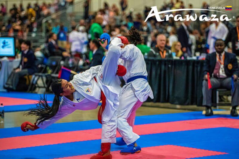 Yorgelis Salazar - 10 veces campeona nacional de Venezuela - 5 veces campeona de juegos Panamericanos (Jr.) - 2xK1 SeriesA - World Karate Championship Jr. - Uniformes de karate en Venezuela: ARAWAZA - Los mejores karateguis y equipo de entrenamiento