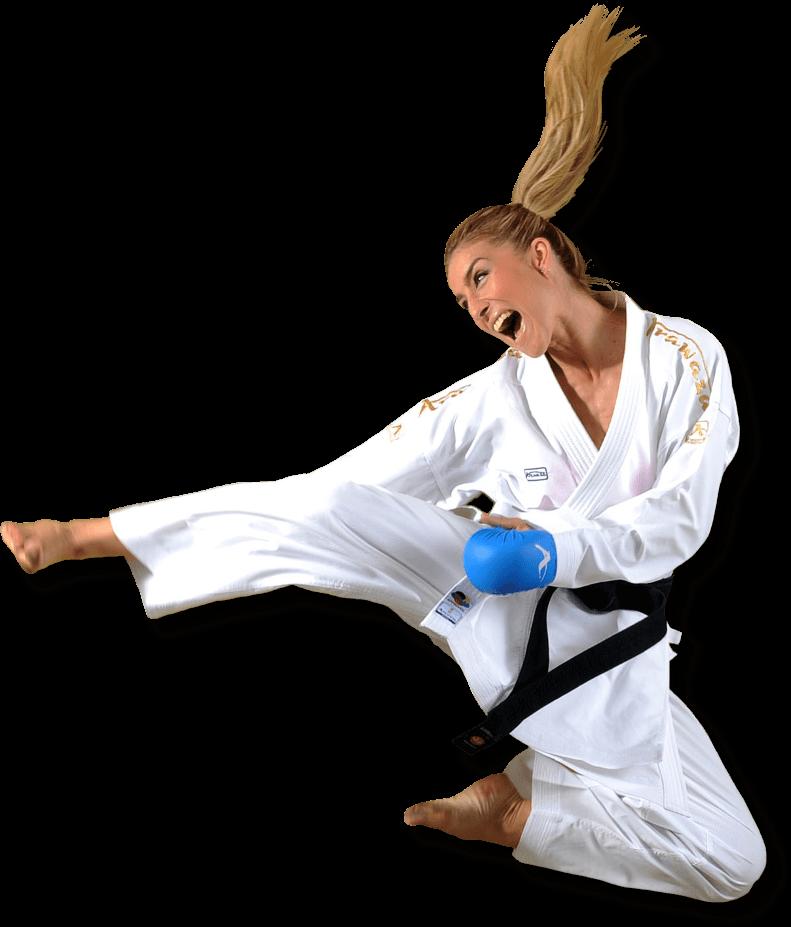 Jelena Kovačević Herrera - Campeona del Mundo - Tres veces Campeona de Europa - Experta Karateka Croata - Arawaza Venezuela - Los mejores uniformes y karateguis